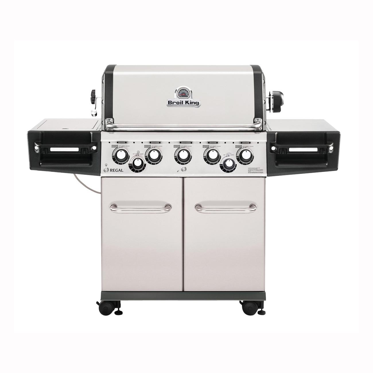 Picture of Broil King Regal 958344 Gas Grill, 55000 Btu/hr BTU, Liquid Propane, 5 -Burner, 625 sq-in Primary Cooking Surface
