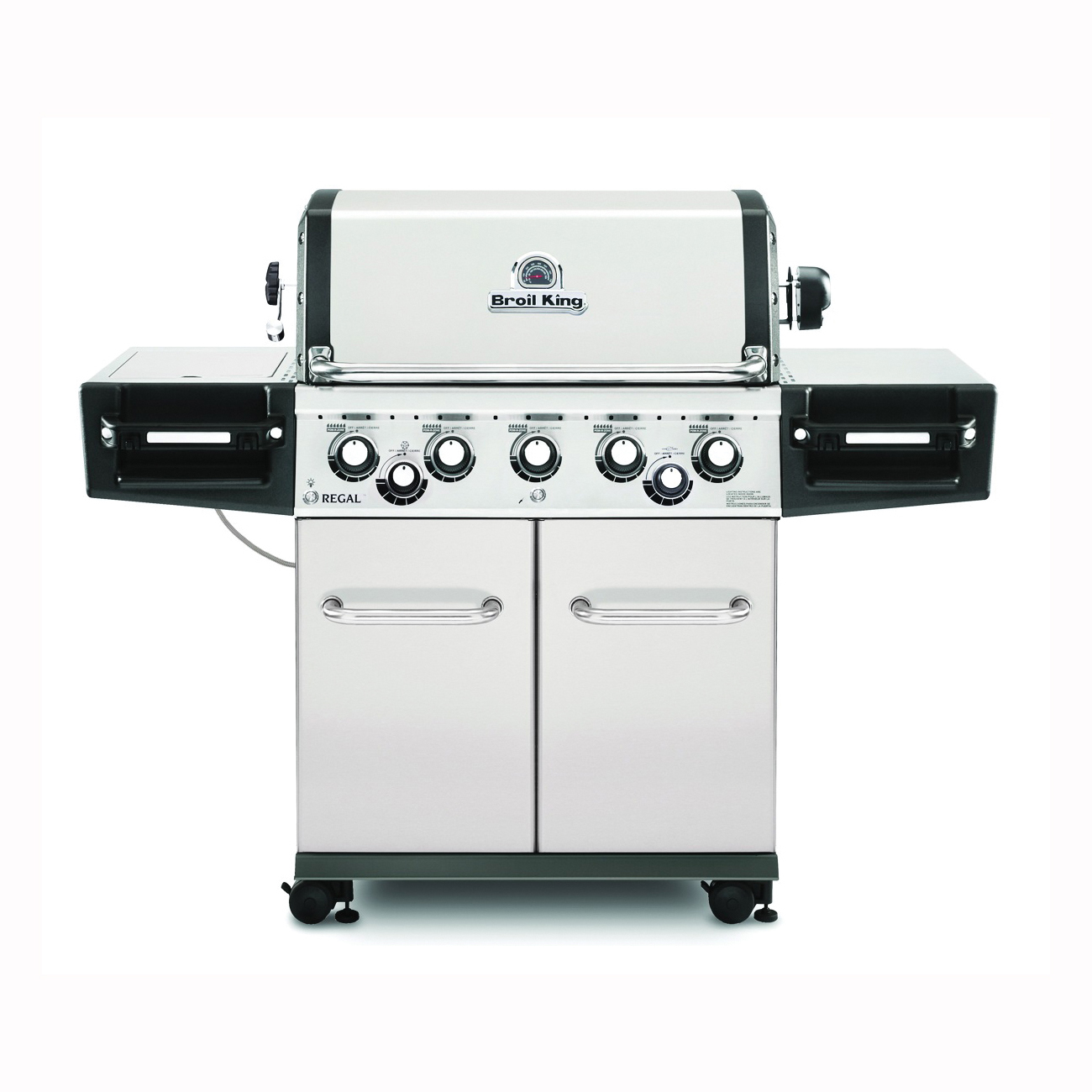 Picture of Broil King Regal 958347 Gas Grill, 55000 Btu/hr BTU, Natural Gas, 5 -Burner, 625 sq-in Primary Cooking Surface