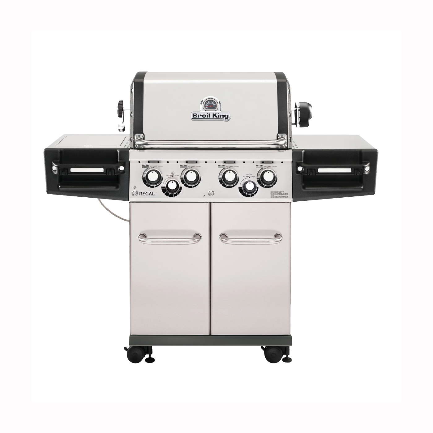 Picture of Broil King Regal 956344 Gas Grill, 55000 Btu/hr BTU, Liquid Propane, 4 -Burner, 500 sq-in Primary Cooking Surface