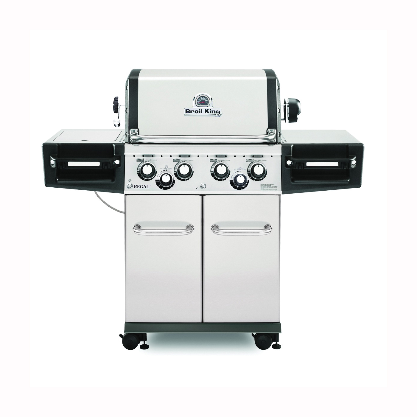 Picture of Broil King Regal 956347 Gas Grill, 55000 Btu/hr BTU, Natural Gas, 4 -Burner, 500 sq-in Primary Cooking Surface