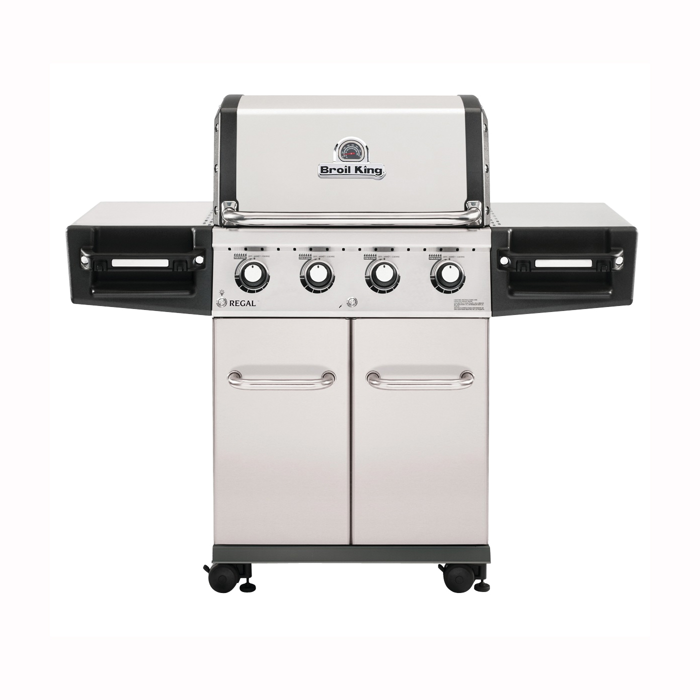 Picture of Broil King Regal 956314 Gas Grill, 55000 Btu/hr BTU, Liquid Propane, 4 -Burner, 500 sq-in Primary Cooking Surface