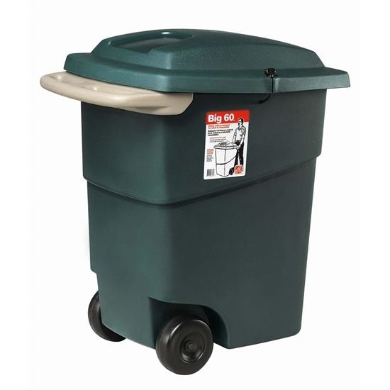 Picture of STEP2 566000 Trash Container, 60 gal Capacity, Green