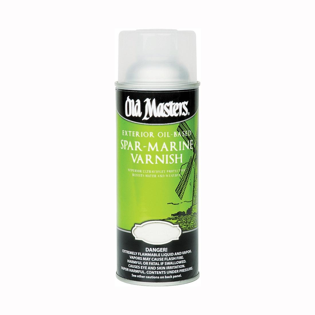 Picture of Old Masters 92510 Spar Marine Varnish, Semi-Gloss, Liquid, 13 oz, Aerosol Can