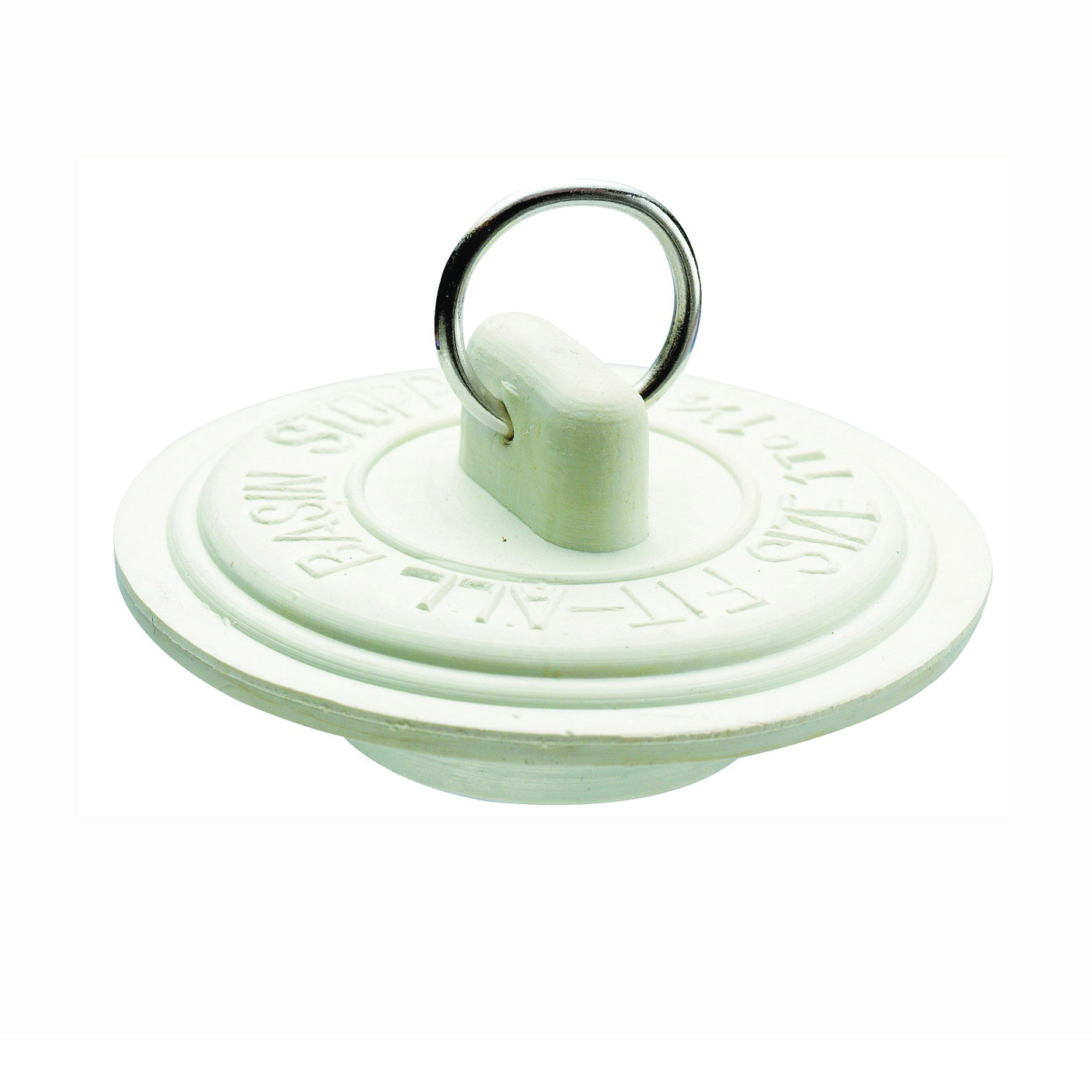Picture of Plumb Pak Duo Fit PP820-6 Drain Stopper, Rubber, White, For: 1-5/8 to 1-3/4 in Sink