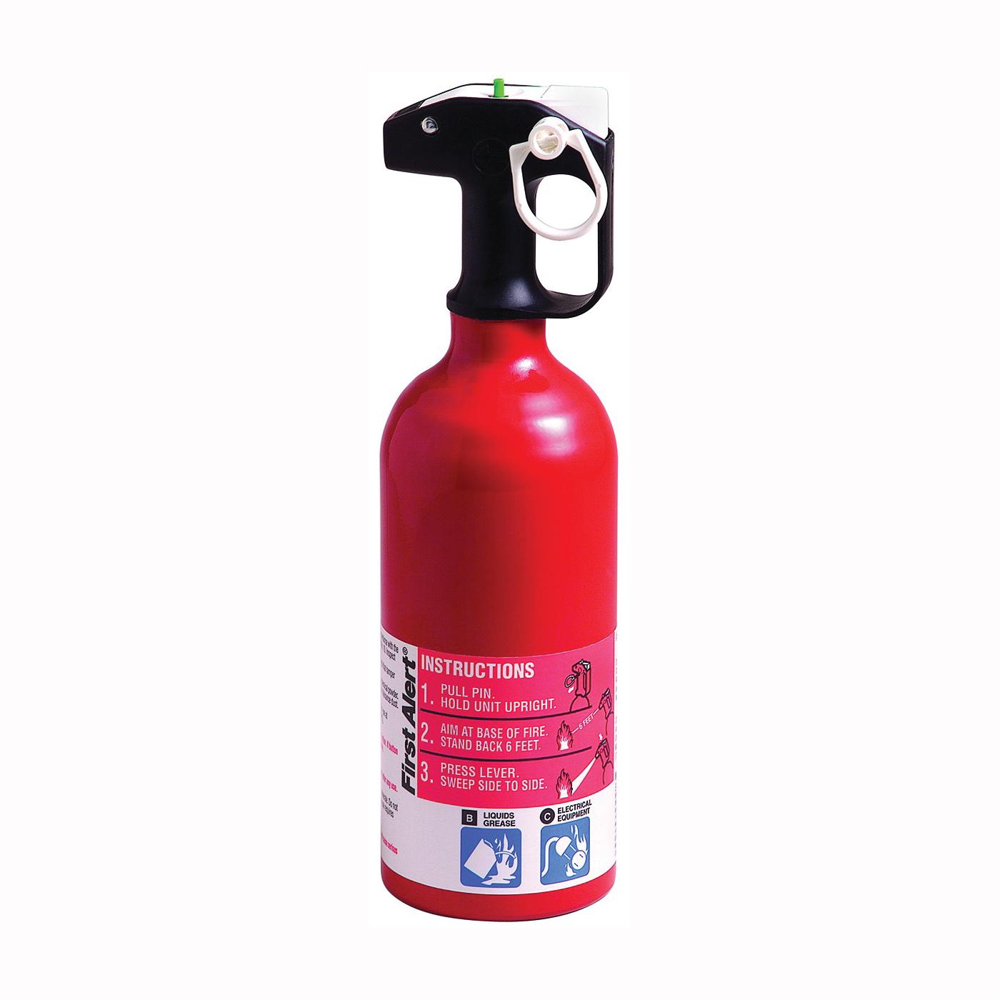 Picture of FIRST ALERT AUTO5 Fire Extinguisher, 1.4 lb Capacity, Sodium Bicarbonate, 5-B:C Class