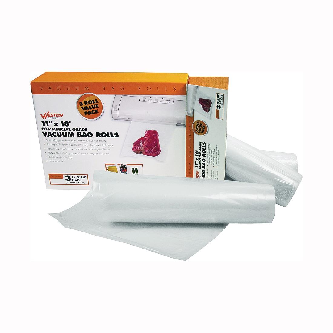 Picture of Weston 30-0202-W Vacuum Sealer Bag, Plastic, Clear