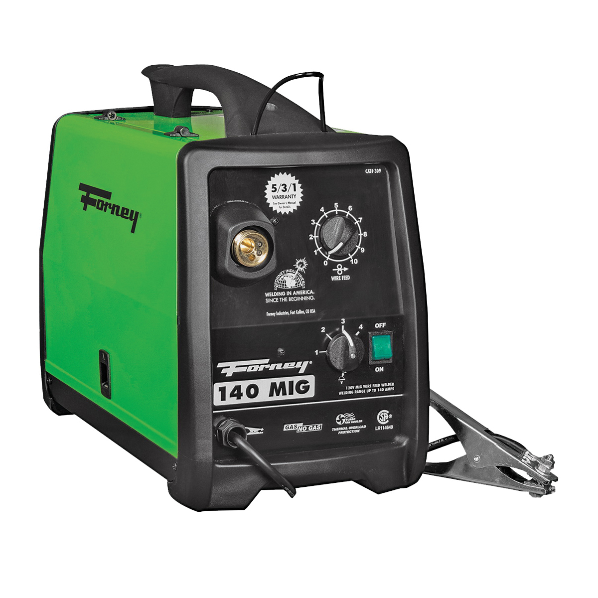 Picture of Forney 309 MIG Welder, 120 V Input, 30 to 140 A Input, 115 A, 1 -Phase, 20 % Duty Cycle