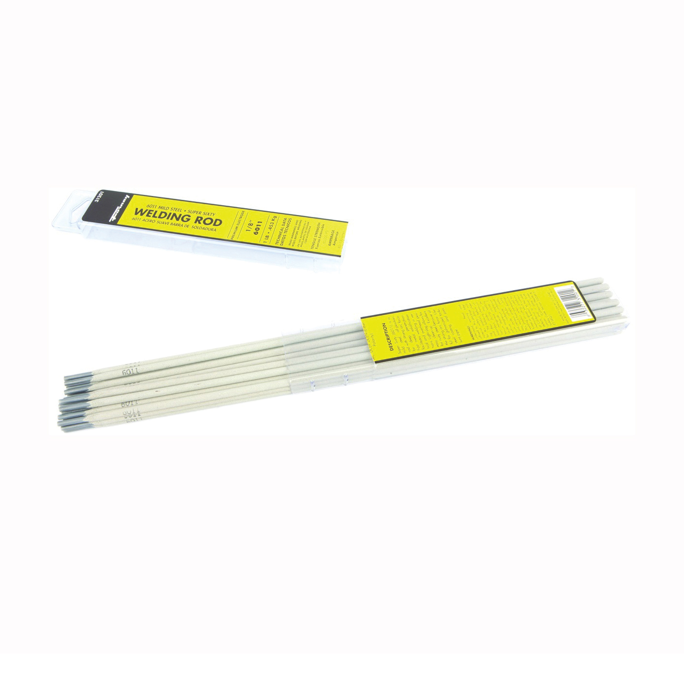 Picture of Forney 31201 Stick Electrode, 1/8 in Dia, 14 in L, Box