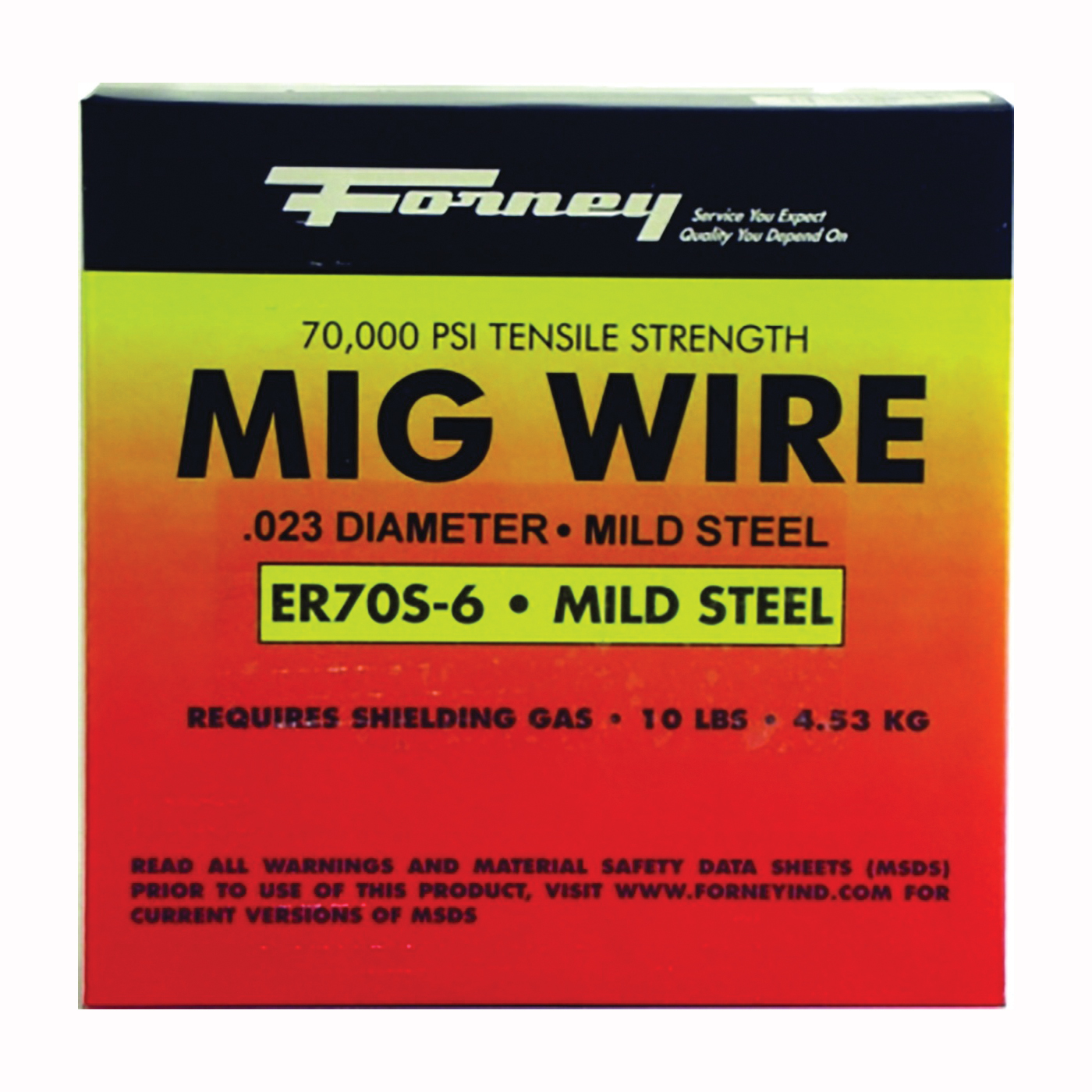 Picture of Forney 42286 MIG Welding Wire, 0.03 in Dia, Mild Steel, Spool