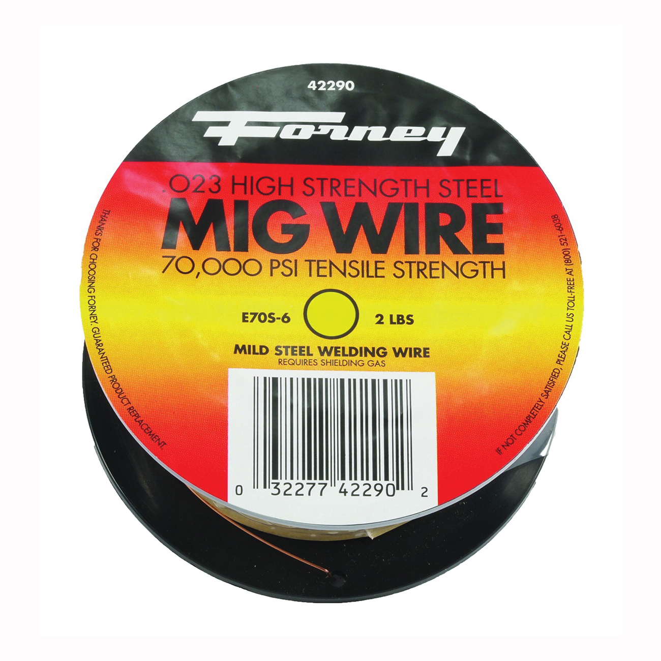 Picture of Forney 42290 MIG Welding Wire, 0.024 in Dia, Mild Steel, Spool