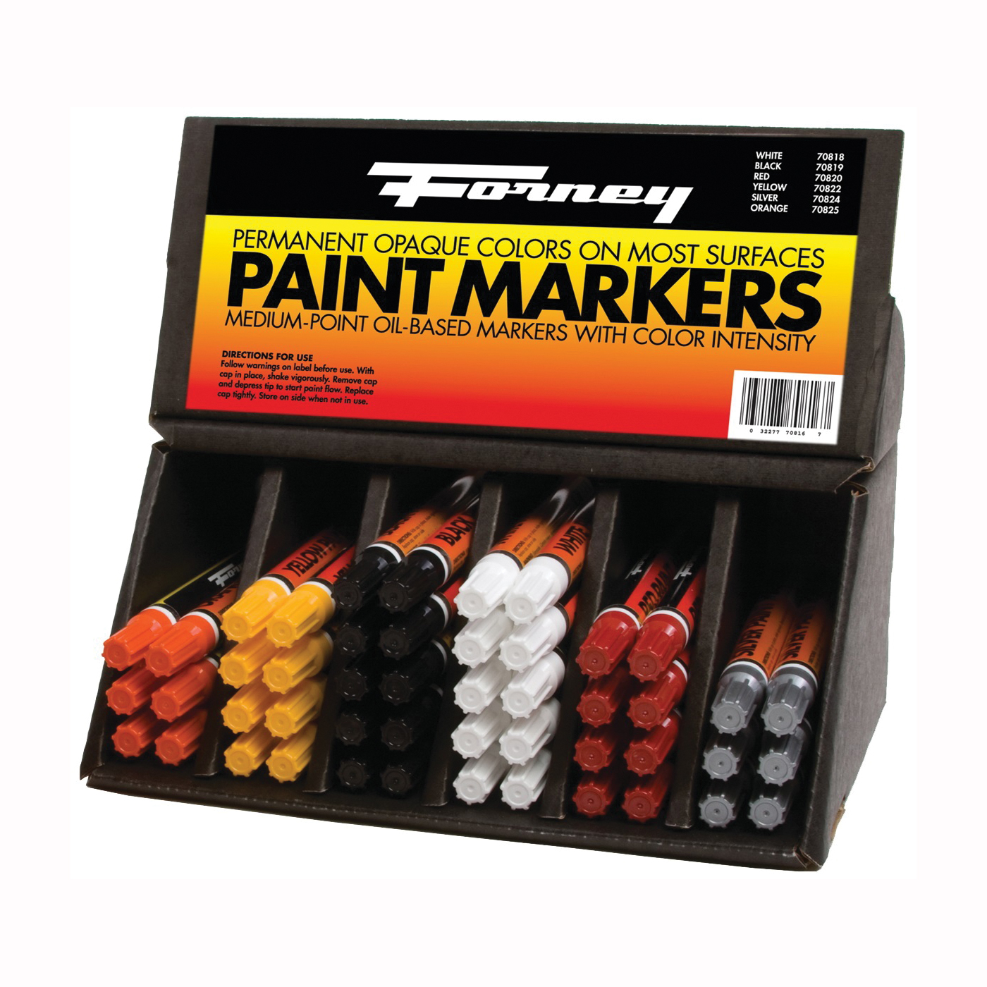 Picture of Forney 70816 Marker Paint Assortment, Assorted