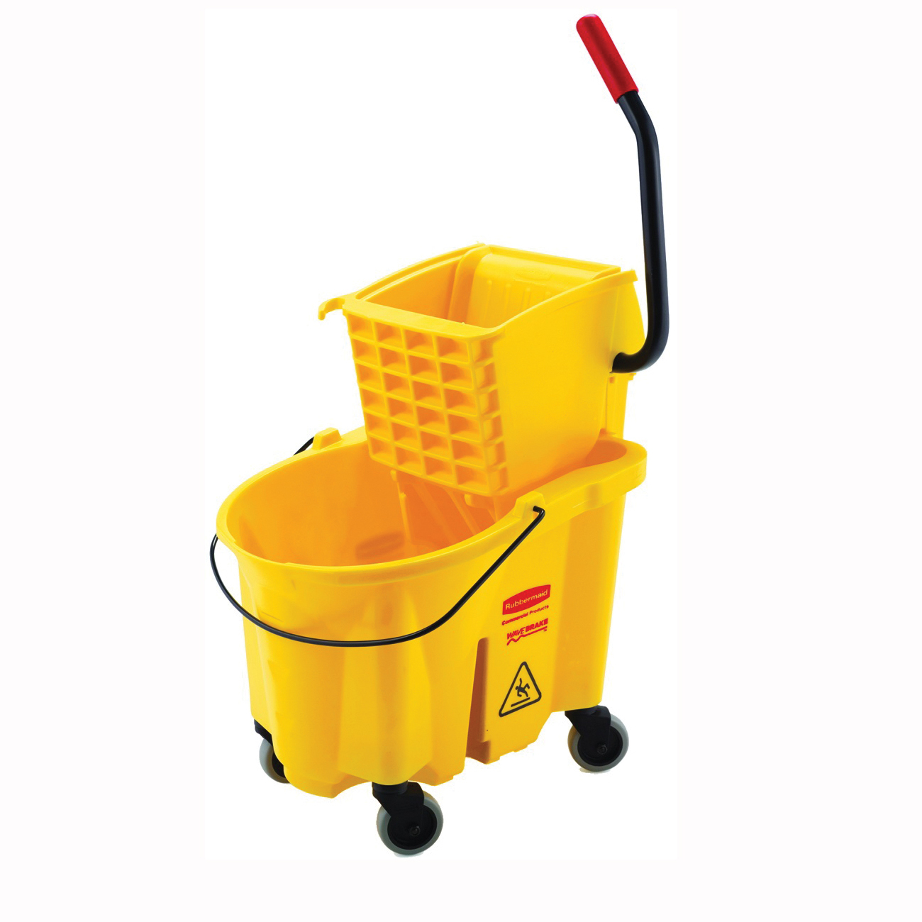 Picture of Rubbermaid FG748000YEL Mop Bucket and Wringer Combo, 26 qt Capacity, Plastic Bucket/Pail