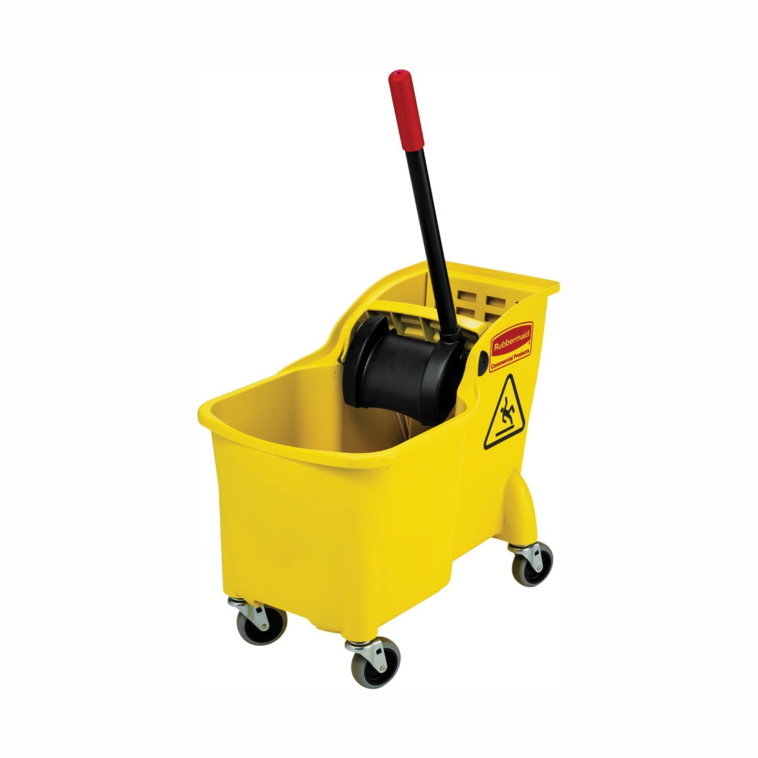 Picture of Rubbermaid FG738000YEL Bucket and Wringer Combo, 31 qt Capacity, Rectangular, Polypropylene Bucket/Pail