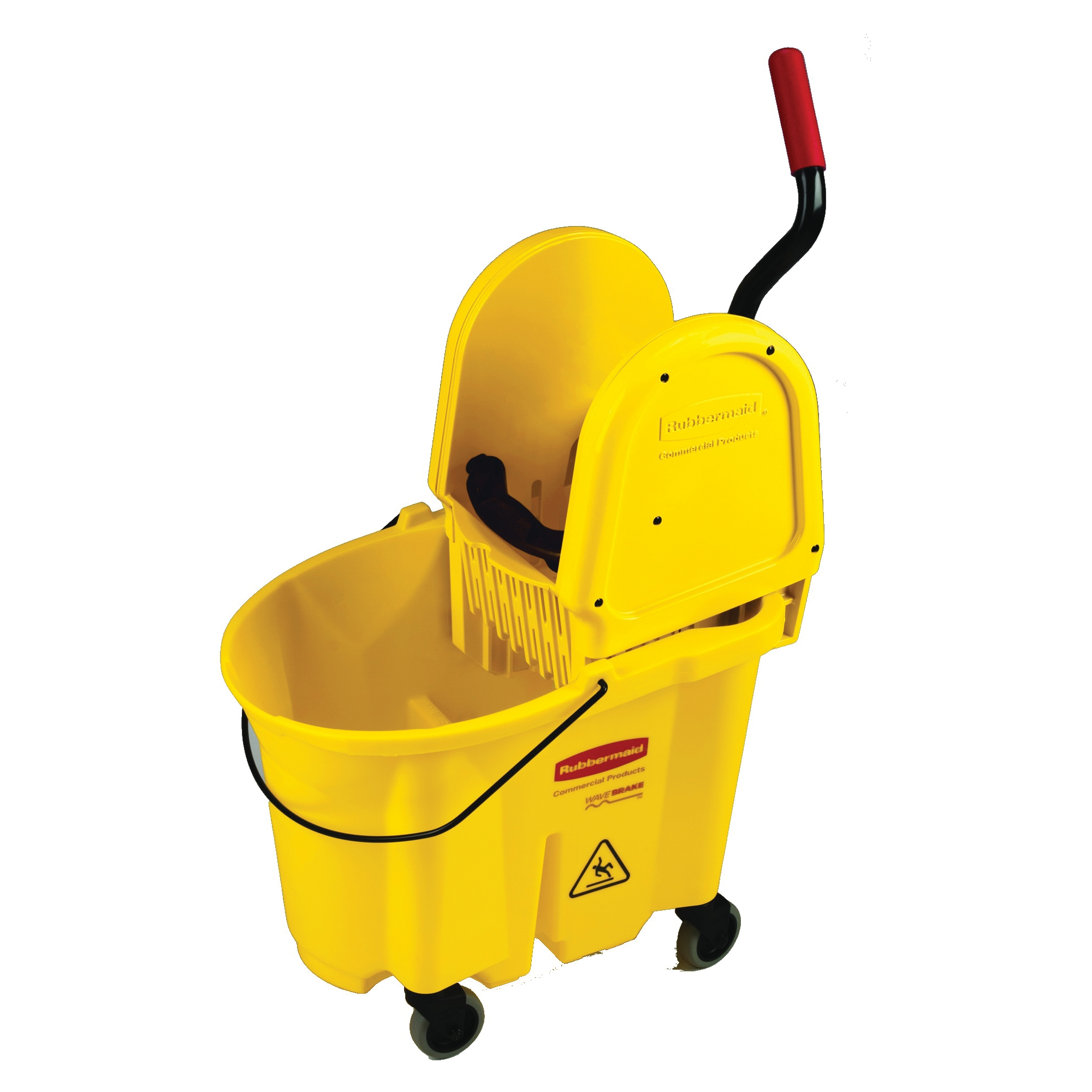 Picture of Rubbermaid FG757788YEL Mop Bucket and Wringer Combo, 35 qt Capacity, Rectangular, Polypropylene Bucket/Pail