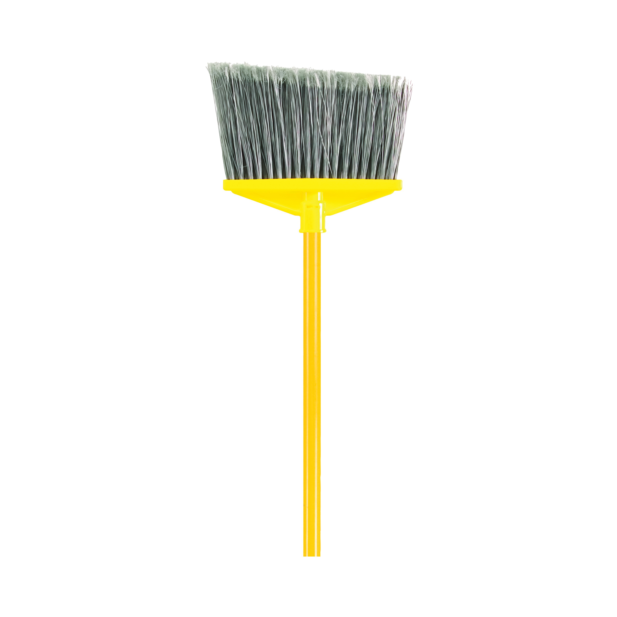 Picture of Rubbermaid FG637500GRAY Angle Broom, 10-1/2 in Sweep Face, 6-3/4 in L Trim, Polypropylene Bristle, Gray Bristle