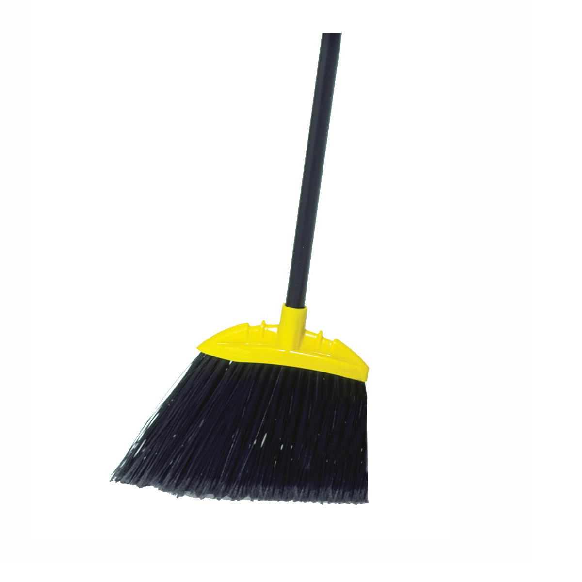 Picture of Rubbermaid FG637400BLA Lobby Broom, 7-1/2 in Sweep Face, 5 in L Trim, Polypropylene Bristle, Black Bristle, 35 in L