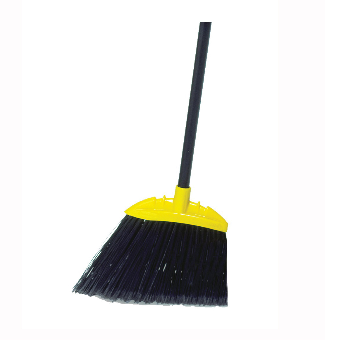 Picture of Rubbermaid FG638906BLA Angle Broom, 10-1/2 in Sweep Face, Polypropylene Bristle, Black Bristle, 55 in L