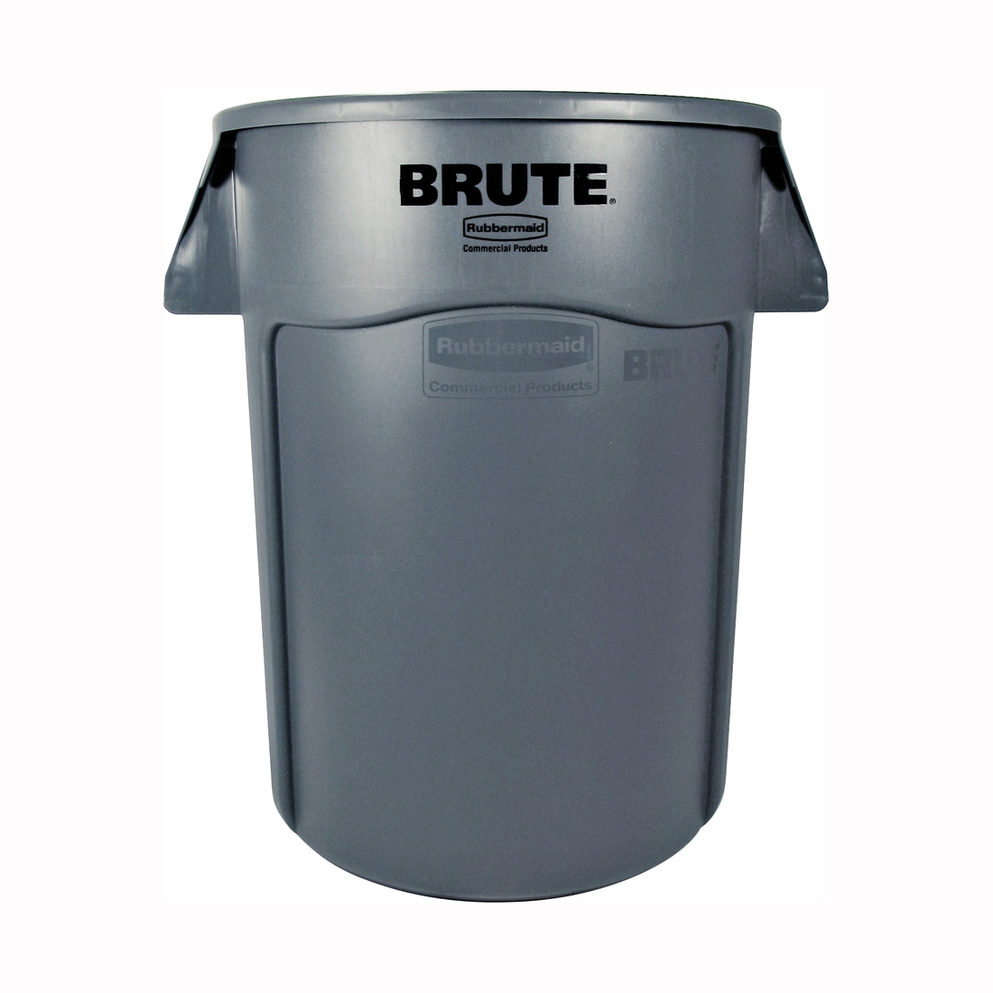 Picture of Rubbermaid FG264360GRAY Trash Container, 44 gal Capacity, Polyethylene, Gray, Snap-On Lid Closure
