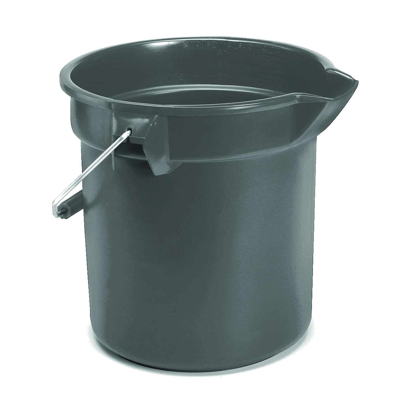 Picture of Rubbermaid Professional Plus FG296300GRAY Bucket, 10 qt Capacity, 10-1/2 in Dia, Polyethylene, Gray