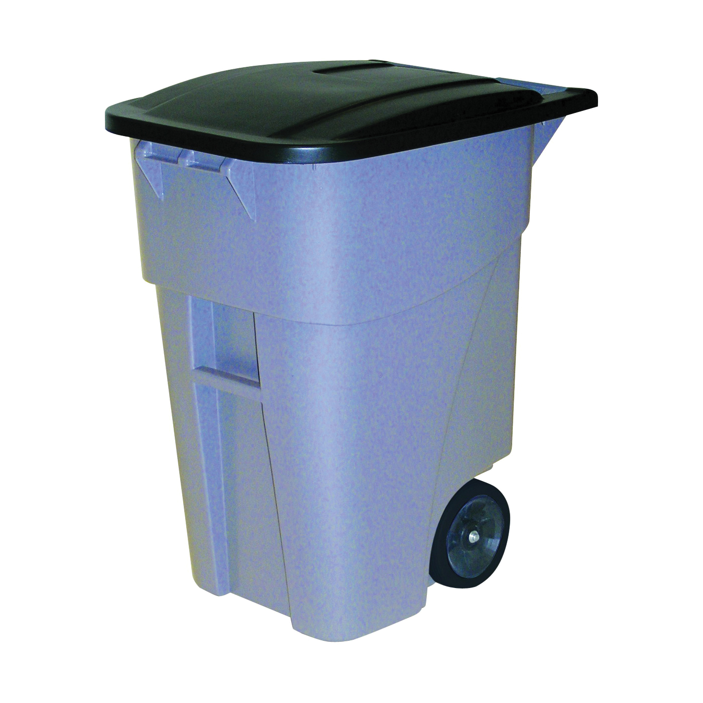 Picture of Rubbermaid FG9W2728GRAY Trash Container, 50 gal Capacity, Polyethylene, Gray, Hinged Lid Closure