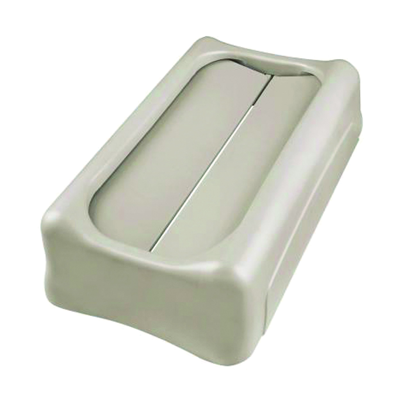 Picture of Rubbermaid FG267360BEIG Swing Lid, 23 gal, Plastic, Beige, For: 15-7/8 and 23 gal Slim Jim Containers