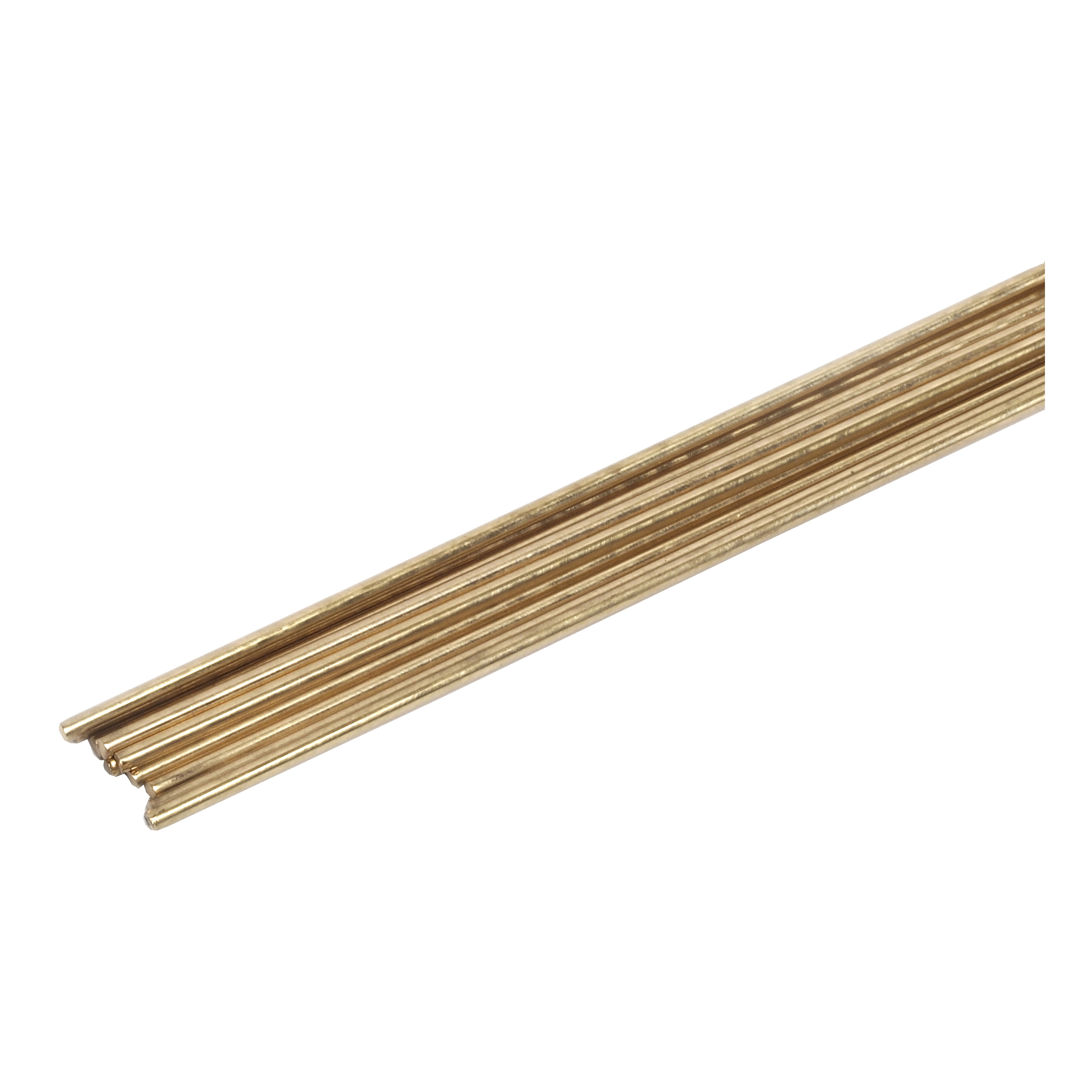 Picture of Forney 48300 Gas Brazing Rod, 3/32 in Dia, 18 in L, Brass