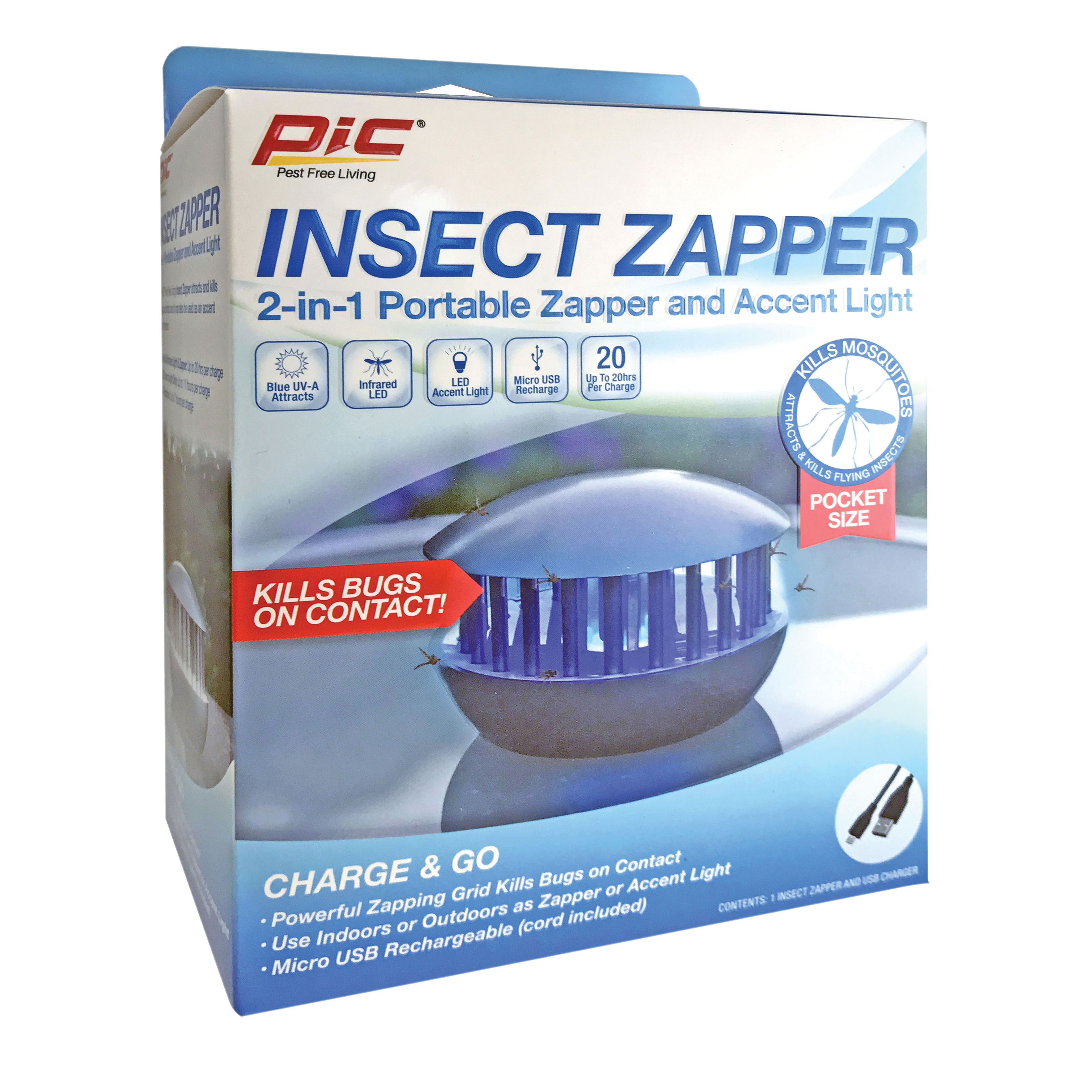 Picture of Pic PBZ Insect Zapper, Gray