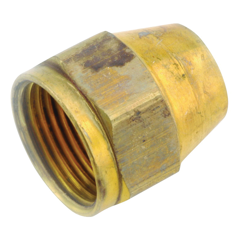Picture of Anderson Metals 54800-06 Space Heater Tube Nut, 3/8 in, Brass