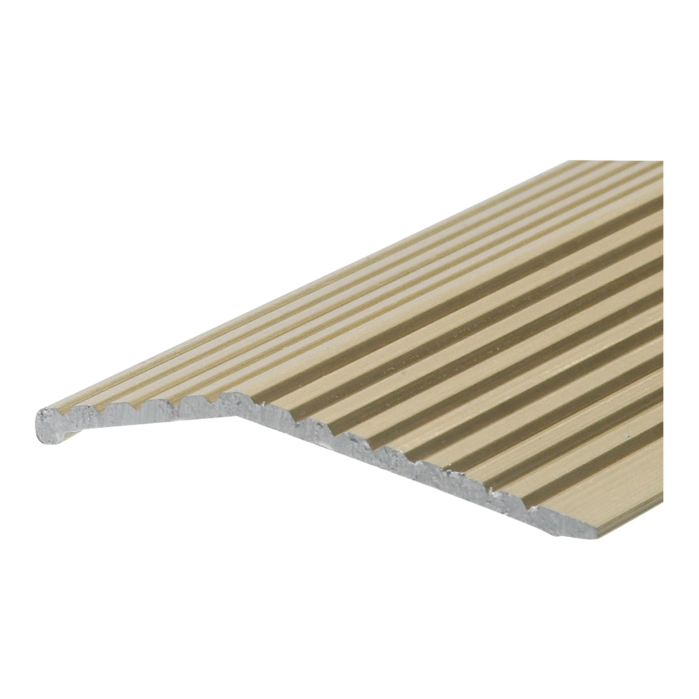 Picture of Frost King H591FB/3 Carpet Bar, 3 ft L, 1-3/8 in W, Fluted Surface, Aluminum, Gold, Satin