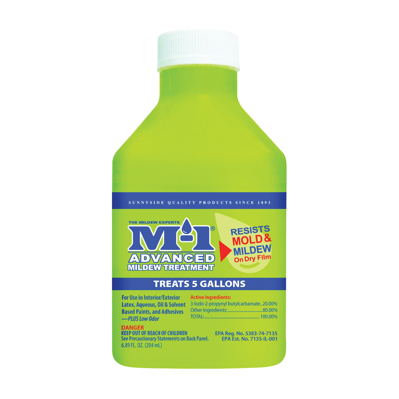 Picture of M-1 AM7.5 Advanced Mildew Treatment, 7.5 oz Package, Bottle, Liquid, Yellow