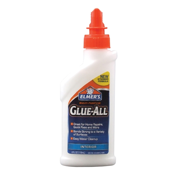 Picture of Elmers E3810 Glue, White, 4 oz Package, Bottle