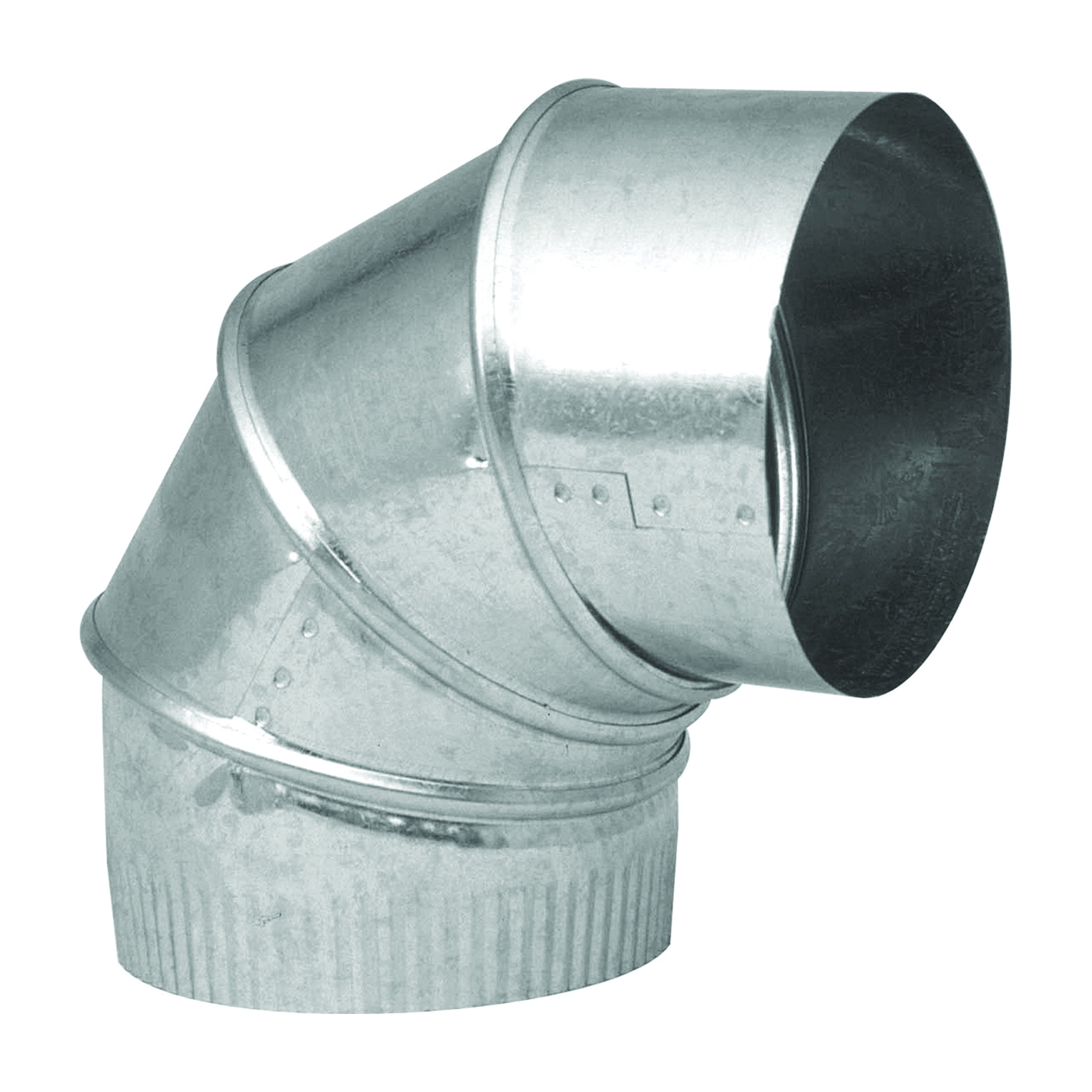 Picture of Imperial GV0301-C Stove Pipe Elbow, 8 in Connection, 24 Gauge, Galvanized