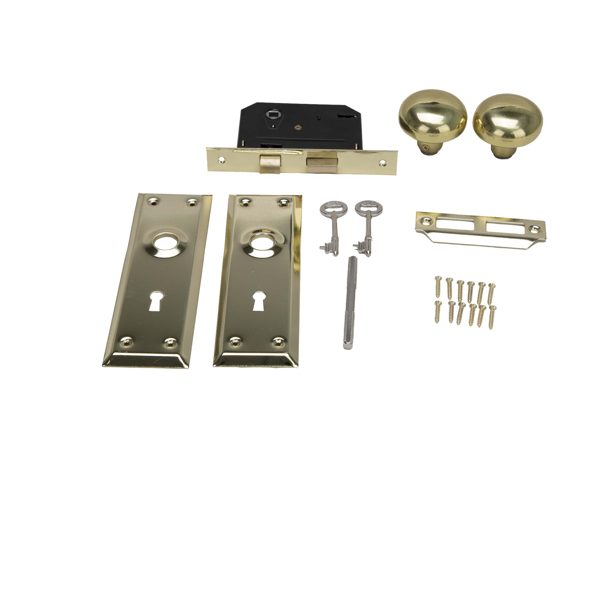 Picture of ProSource 6870372-3L Mortise Lock, Polished Brass, 2-3/8 in Backset