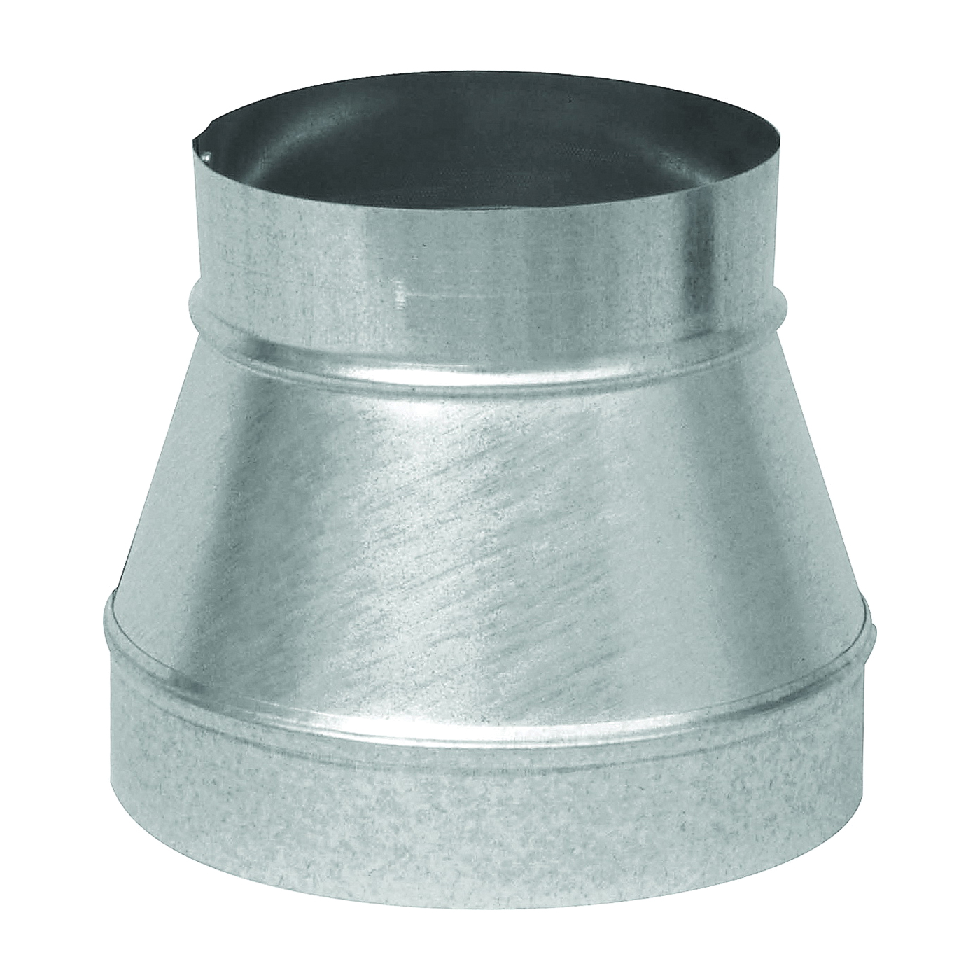 Picture of Imperial GV1202 Stove Pipe Reducer, 7 x 6 in, 26 ga Thick Wall, Black, Galvanized