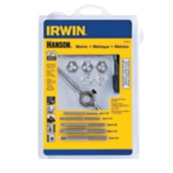 Picture of IRWIN HANSON 1765541 Tap and Hex Die Set, 12 -Piece, Carbon Steel