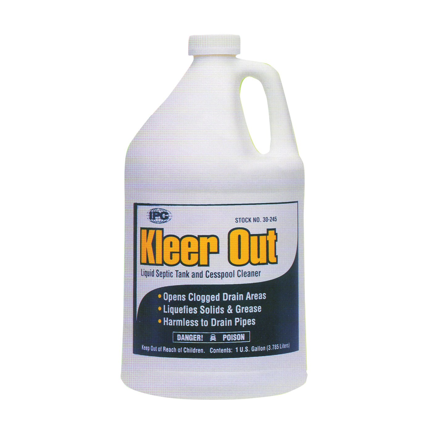 Picture of ComStar Kleer Out 30-245 Septic Tank Cleaner, Liquid, Clear, Odorless, 1 gal Package, Bottle