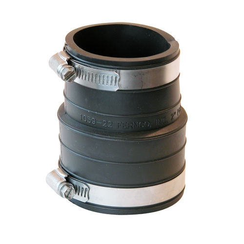 Picture of FERNCO P1059-22 Pipe Coupling, 2 in, Socket, PVC, Black, 4.3 psi Pressure