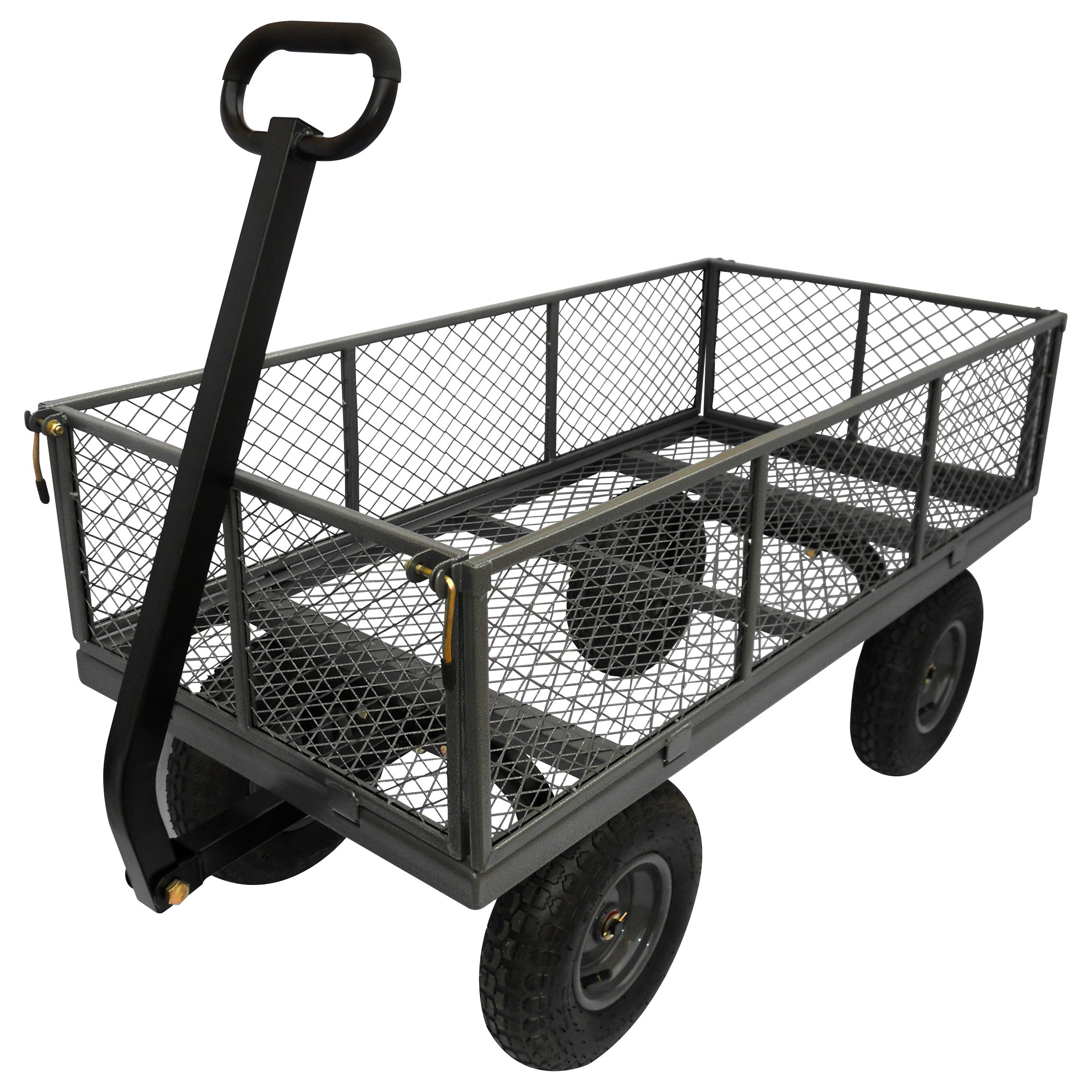 Picture of Landscapers Select TC4205EG Garden Cart, 1200 lb, Steel Deck, 4 -Wheel, 13 in Wheel, Pneumatic Wheel, Pull Handle