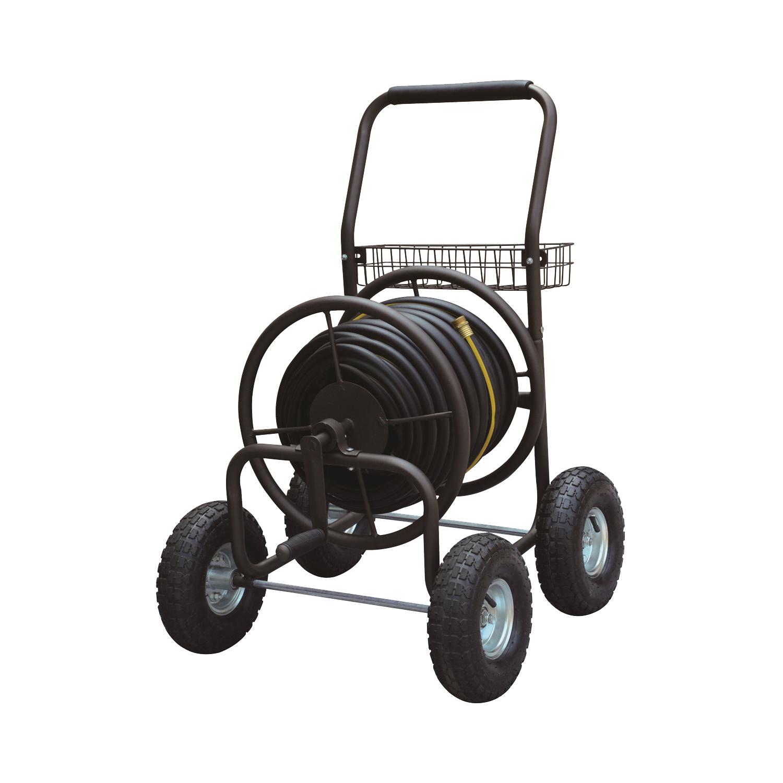 Picture of Landscapers Select TC4719A Hose Reel Cart, 250 ft L Hose, 250 ft Hose, Manual Crank Winding, Steel