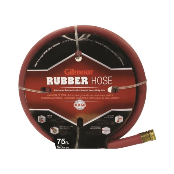Picture of Gilmour 18-58075 Garden Hose, 75 ft L, Rubber, Red