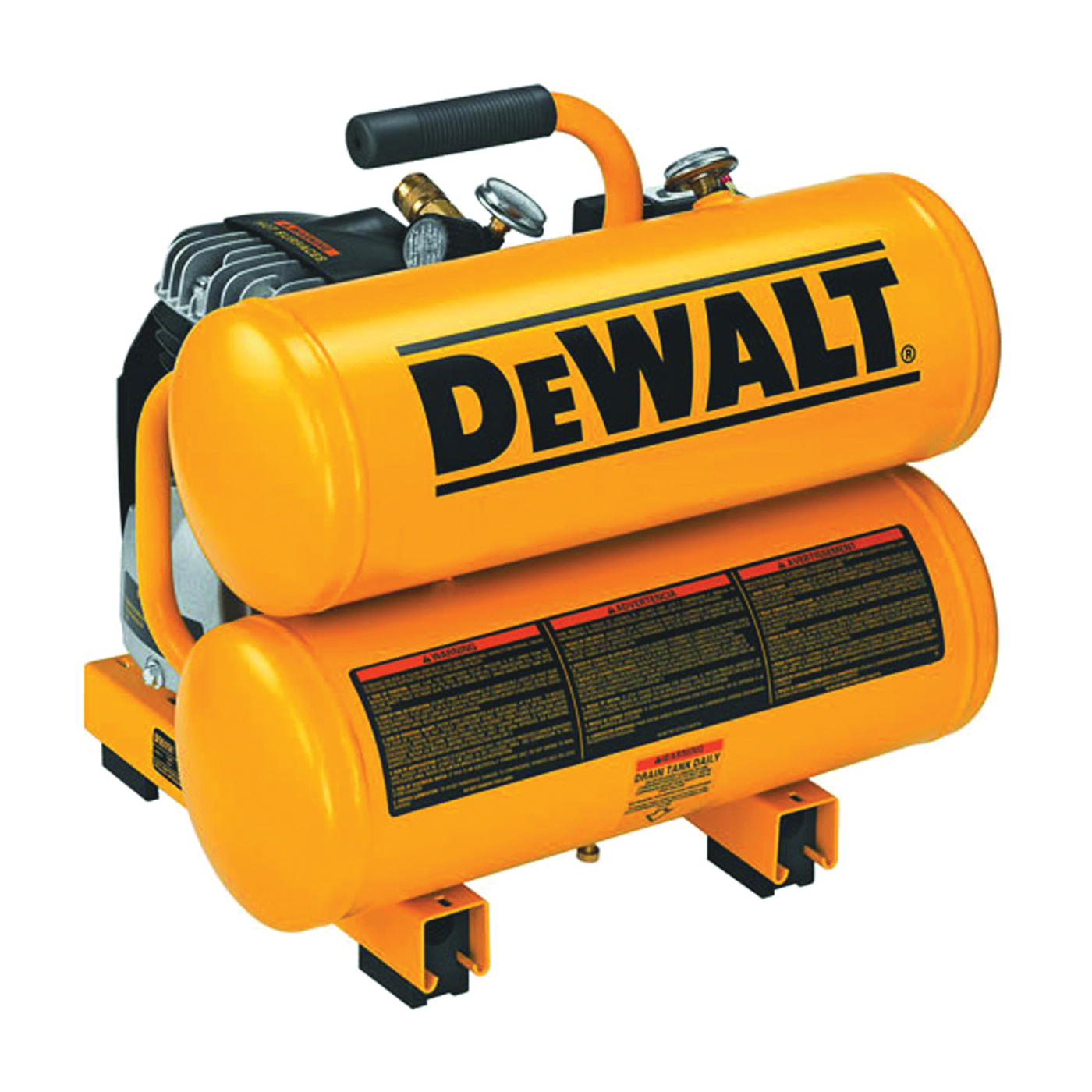 Picture of DeWALT D55151 Portable Air Compressor, 4 gal Tank, 1.1 hp, 120 V, 125 psi Pressure, 3.2 cfm Air
