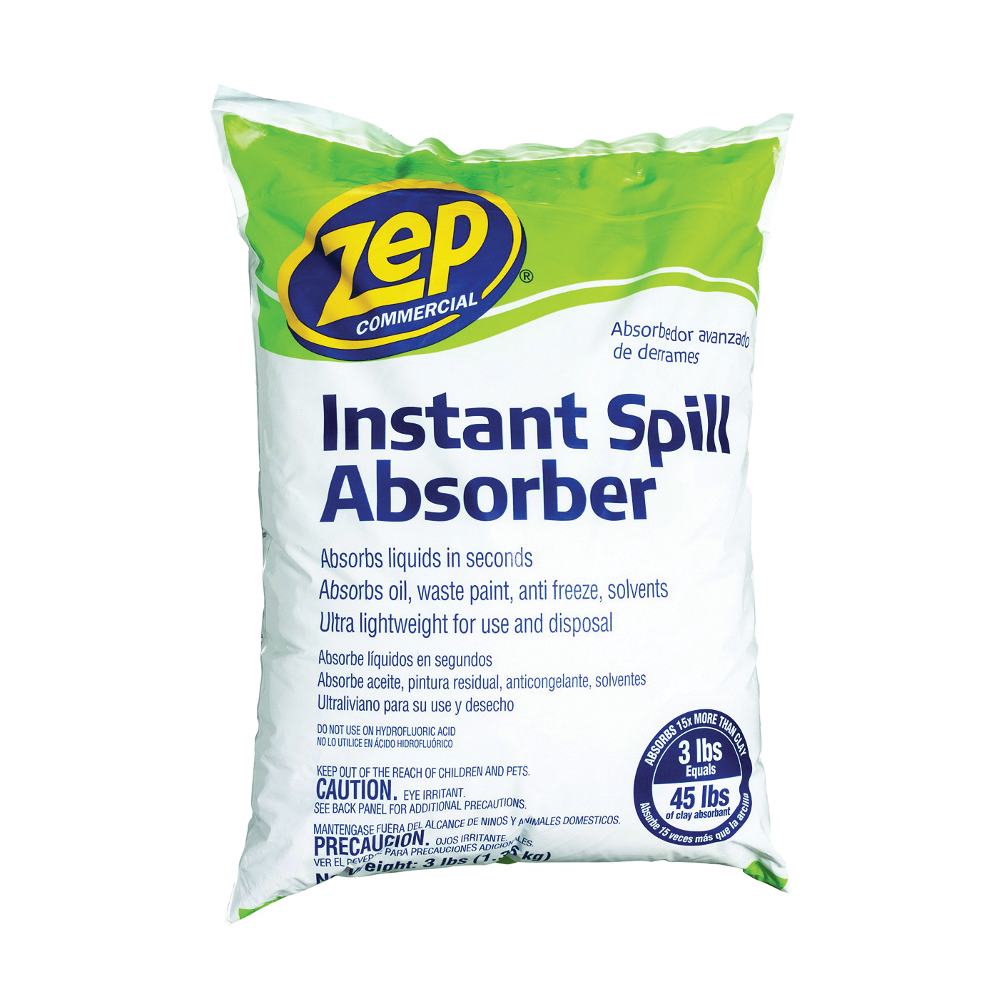 Picture of Zep ZUABS3 Spill Absorbent, 3 lb Package, Bag, Granular, Odorless