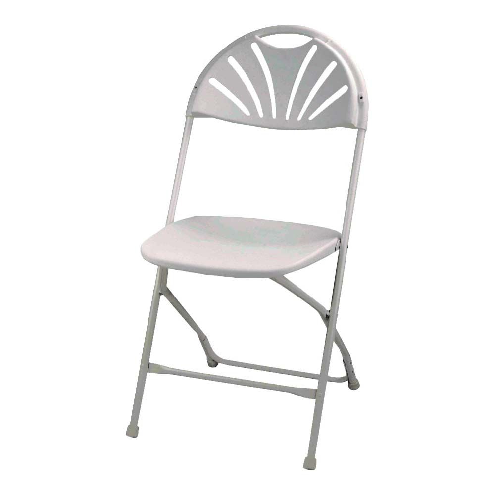 Picture of Simple Spaces CHR-017-1 Folding Chair, Carbon Steel Frame, Polypropylene Tabletop, White