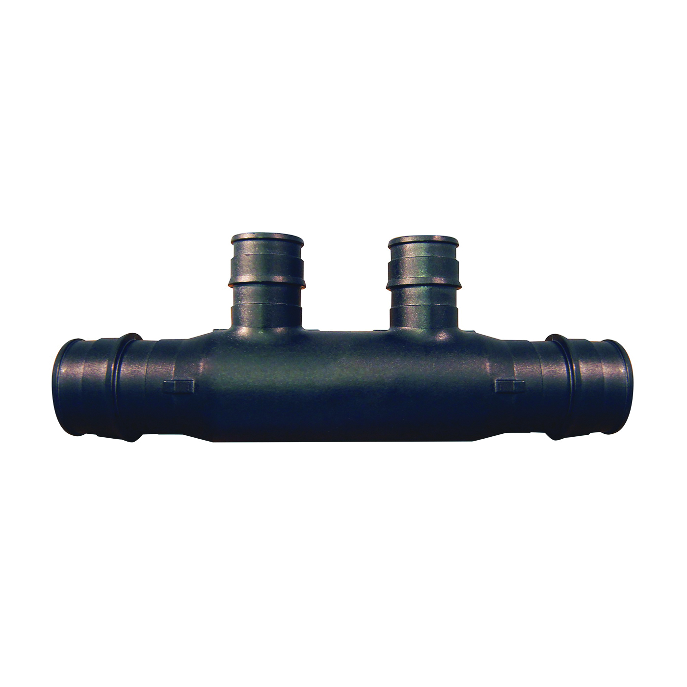Picture of Apollo ExpansionPEX EPXM2PTO Open End Manifold, 2-Inlet, 3/4 in Inlet, 2-Outlet, 1/2 in Outlet, Brass