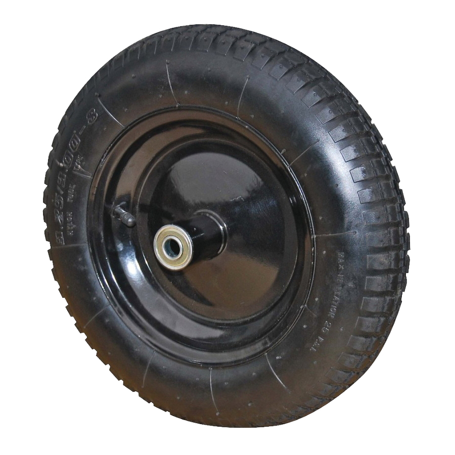 Picture of ProSource PR1306 Wheelbarrow Wheel with Tube, 13 in Dia Tire, 3 in W Tire, Knobby Tread