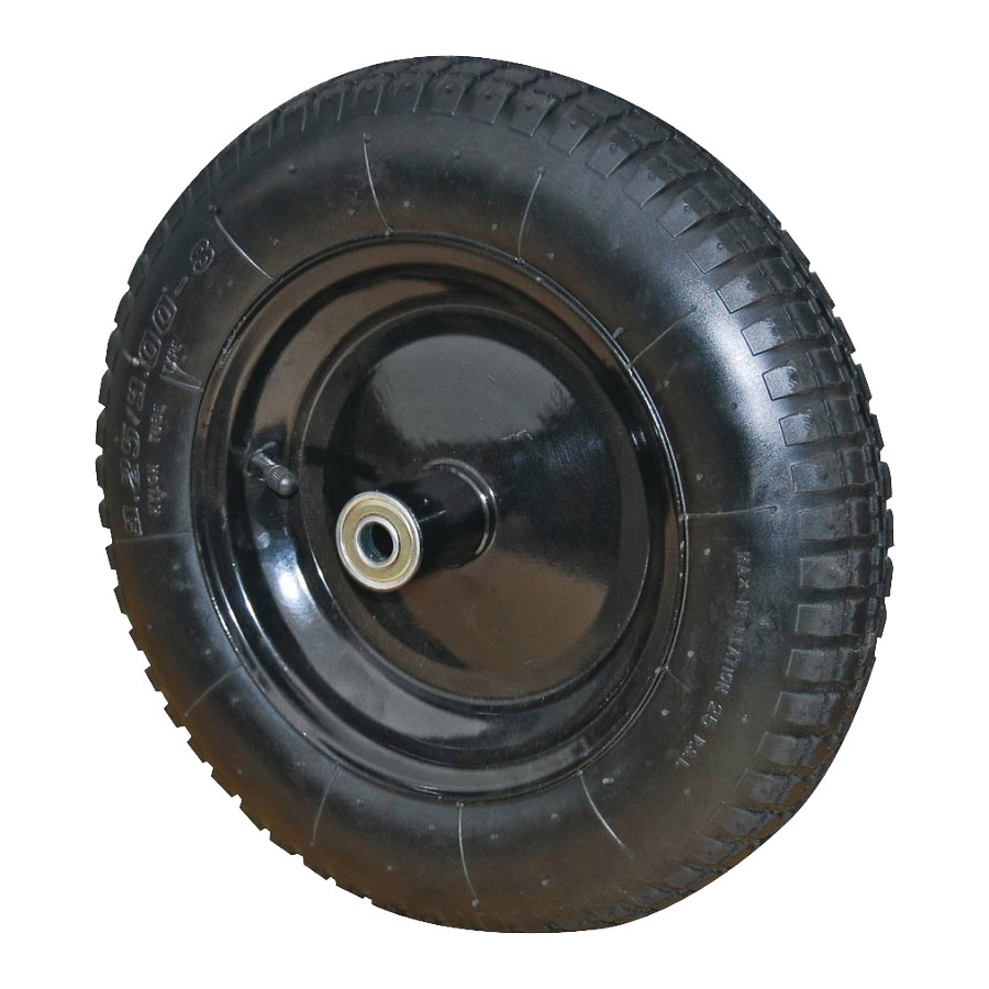 Picture of ProSource PR1601 Wheelbarrow Wheel with Tube, 16 in Dia Tire, 4 in W Tire, Knobby Tread