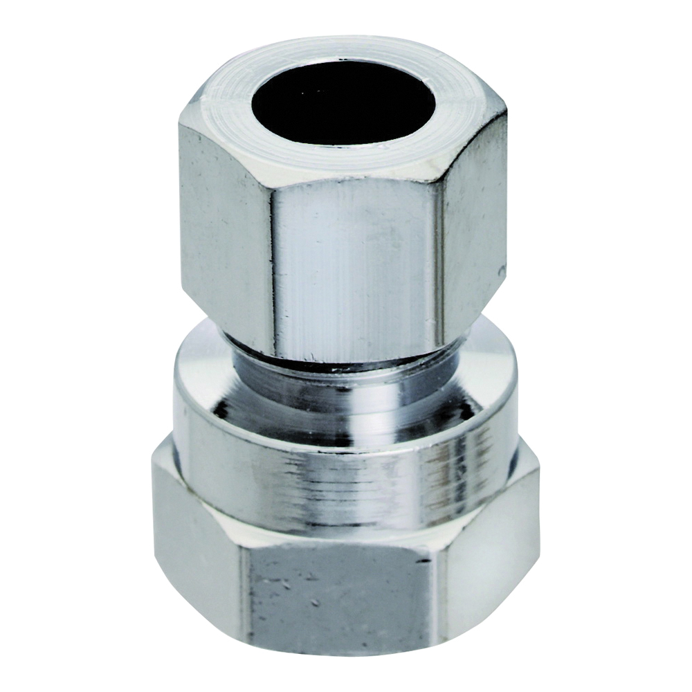 Picture of Plumb Pak PP71PCLF Straight Adapter, 3/8 in, FIP x Compression, Chrome