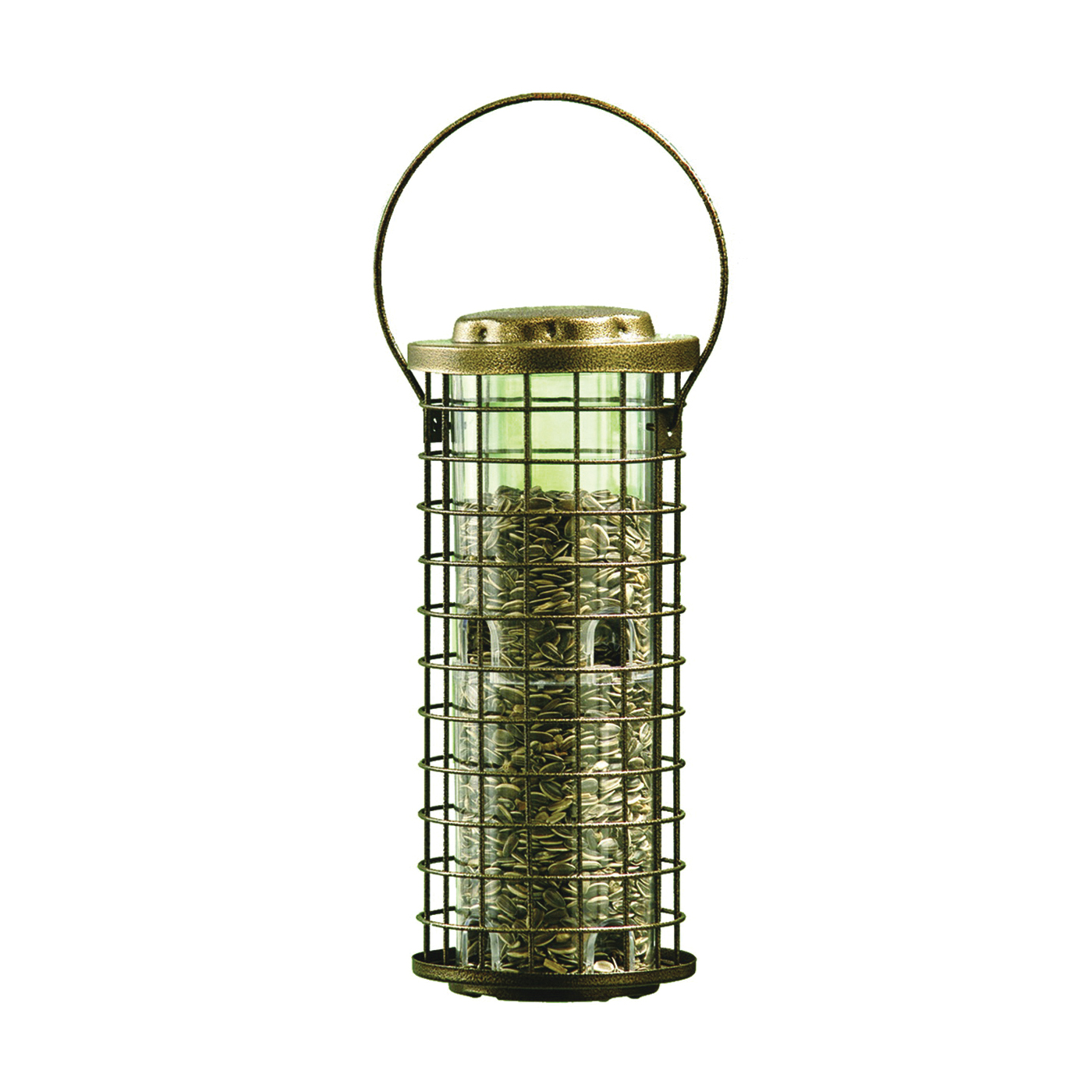 Picture of Perky-Pet 114 Squirrel Stumper Feeder, Metal/Plastic, Clear, Antique Gold, Hanging Mounting