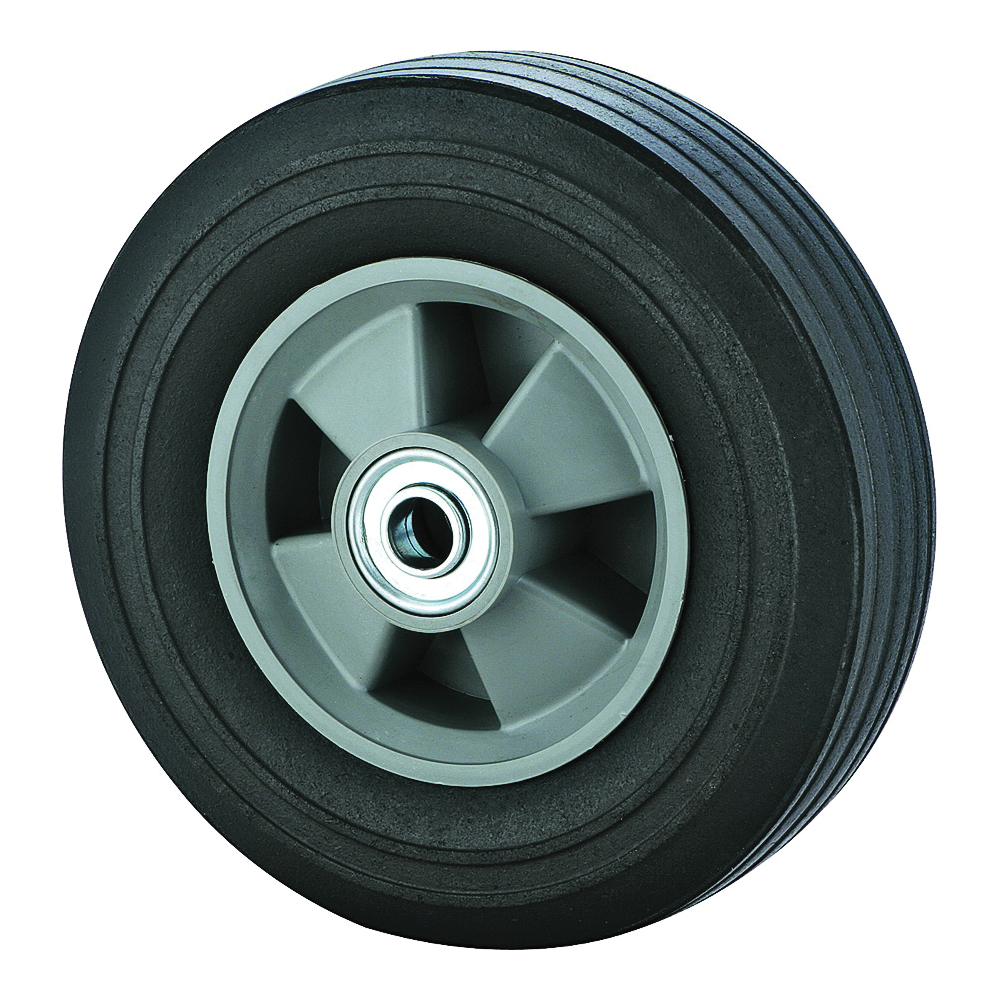 Picture of ProSource CW/W-005 Hand Truck Wheel, Nil, 8 x 2-1/4 in Tire, 1-3/4 in Dia Hub, Rubber, 1, Round Color Card