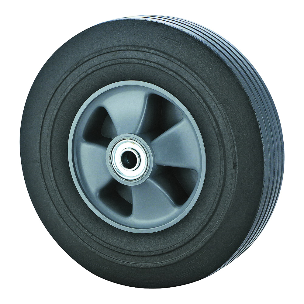 Picture of ProSource CW/W-005-2 Hand Truck Wheel, Nil, 10 x 2-1/2 in Tire, 1-3/4 in Dia Hub, Rubber, 1, Round Color Card